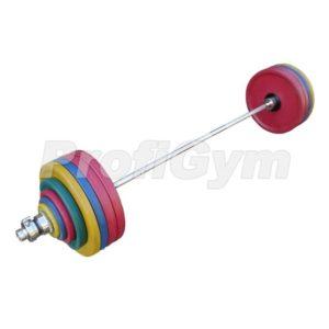 ШП-006 Штанга рекордная олимпийская 232,5 кг в наборе, цветная