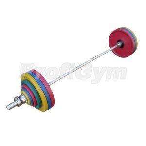 ШП-005 Штанга рекордная олимпийская 182,5 кг в наборе, цветная
