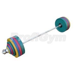 ШП-008 Штанга рекордная олимпийская 282,5 кг в наборе, цветная