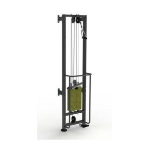 ТРБ2500-П-1-100 Тренажер блочный реабилитационный пристенный (аналог МТБ) стек 100 кг высота 2500 мм