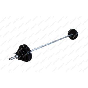 ШТРА-70-26 Штанга тренировочная 70кг с грифом 25мм, длиной 1,9м, обрезиненные диски Антат