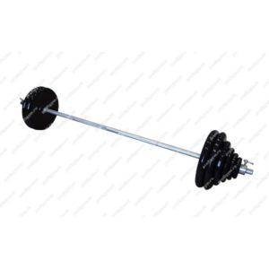 ШТРА-100-26 Штанга тренировочная 100кг с грифом 25мм, длиной 1,9м, обрезиненные диски Антат