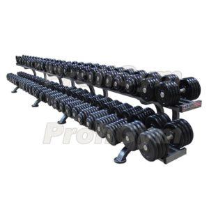 ГП-012 Обрезиненный гантельный ряд «Profigym» от 11 до 81 кг с шагом 2,5 кг