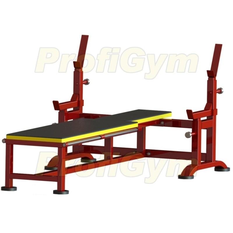 2СК-0042-HР Скамья для жима с упорами и скамьей для инвалидов усиленная
