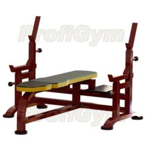 2СК-0041-HР Скамья для жима с упорами и подножками усиленная
