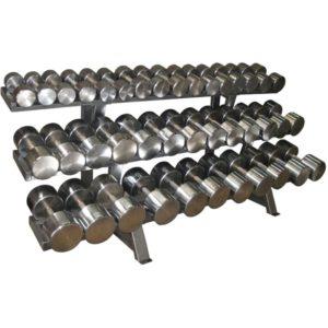 ГП-016 Гантельный ряд хромированный, от 12,5 до 60 кг