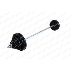 ШТР-130-26 Штанга тренировочная 130кг с грифом 25мм, длиной 1,9м, обрезиненные диски
