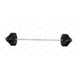 ШТР-150-26 Штанга тренировочная 150кг с грифом 25мм, длиной 1,9м, обрезиненные диски