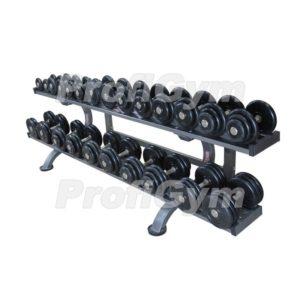 ГП-007 Обрезиненный гантельный ряд «Profigym» от 3,5 до 31 кг с шагом 2.5 кг