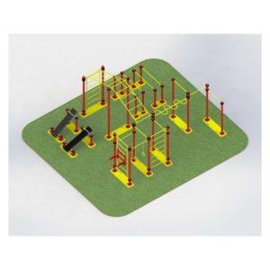 ТВМ-001.00 Мобильный спортивный комплекс шведская стенка + турник + брусья + рукоход + скамья для пресса